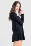 Long Sleeve Vampire Halloween Swing Dress - bejealous-com