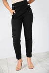 High Waist Black Cigarette Trousers - bejealous-com