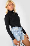 Cammie Long Sleeve Funnel Neck Knitted Top - bejealous-com