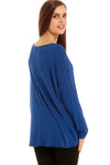 Long Sleeve Round Neck Baggy Top - bejealous-com