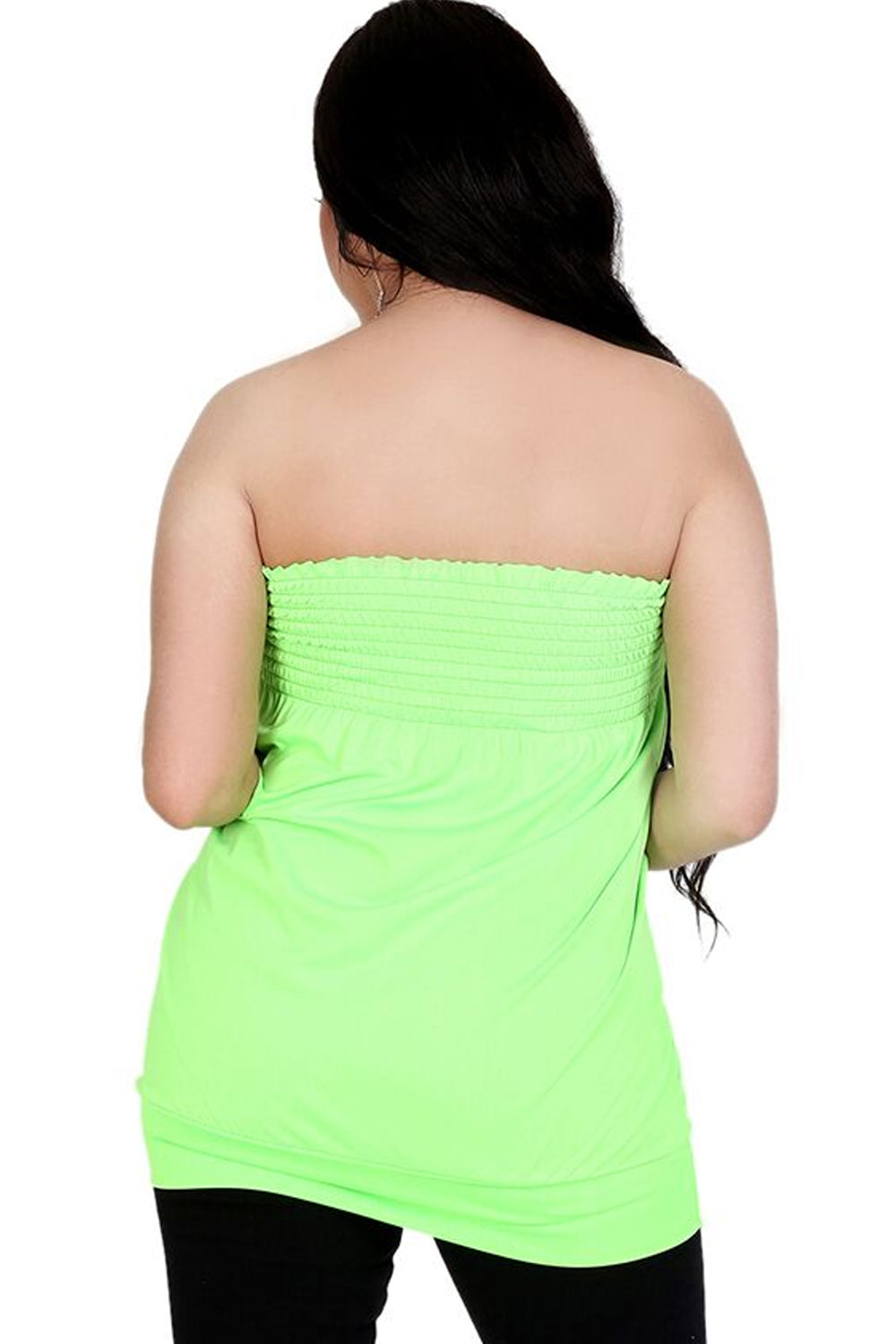 Bardot Shirring Neon Green Slinky Top - bejealous-com