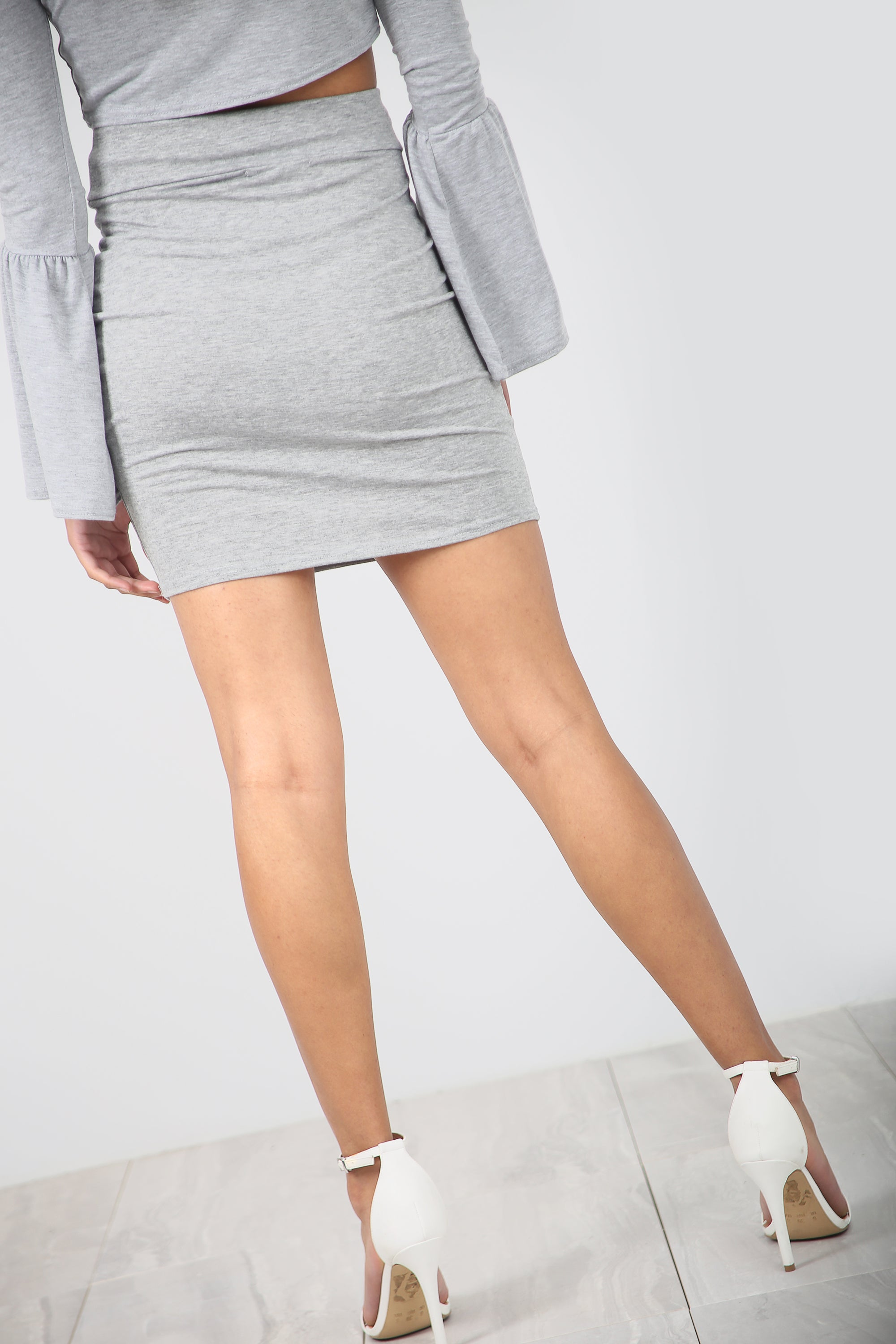 High Waist Basic Jersey Black Mini Skirt - bejealous-com