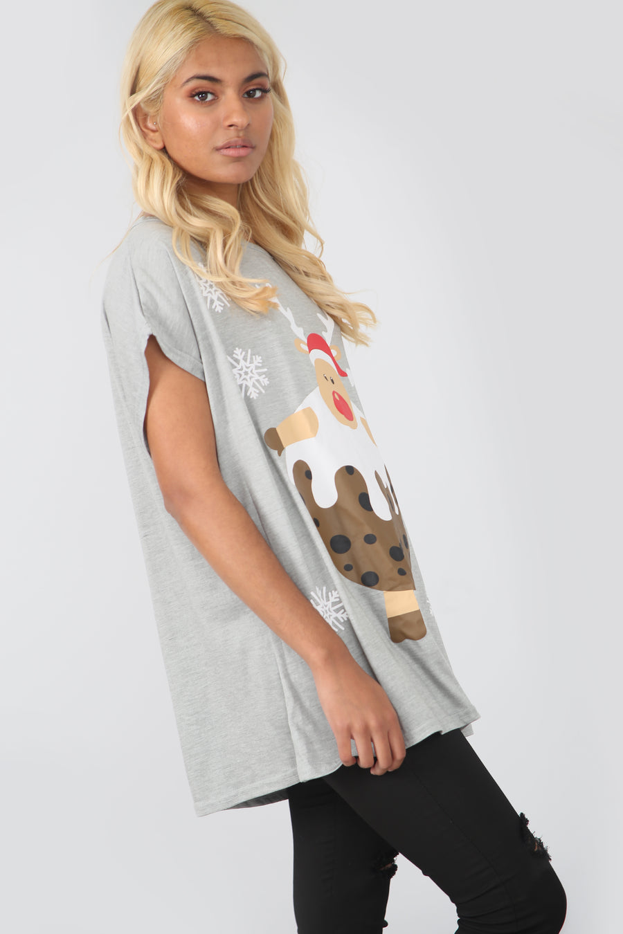 Christmas Pudding Oversized Drop Sleeve Tshirt - bejealous-com