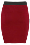 High Waisted Red Mini Tube Skirt - bejealous-com