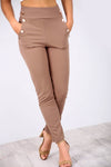 Barley High Waisted Button Cigarette Trousers - bejealous-com