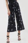 High Waisted White Floral Print Culotte Pants - bejealous-com