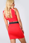 High Waist Red Basic Mini Tube Skirt - bejealous-com