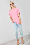 Basic Oversize Red Short Sleeve Tshirt - bejealous-com
