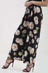 High Waist Sun Flower Wide Leg Trousers - bejealous-com