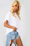 Basic Oversize White Short Sleeve Tshirt - bejealous-com