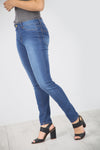 High Waist Blue Washed Denim Jeans - bejealous-com