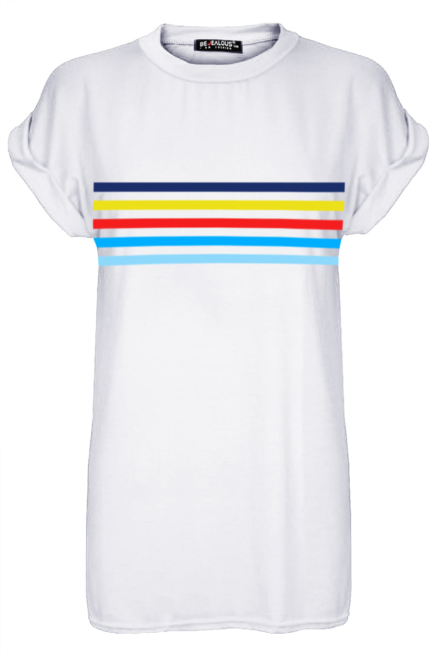 Aria Rainbow Stripes Oversized Baggy T Shirt