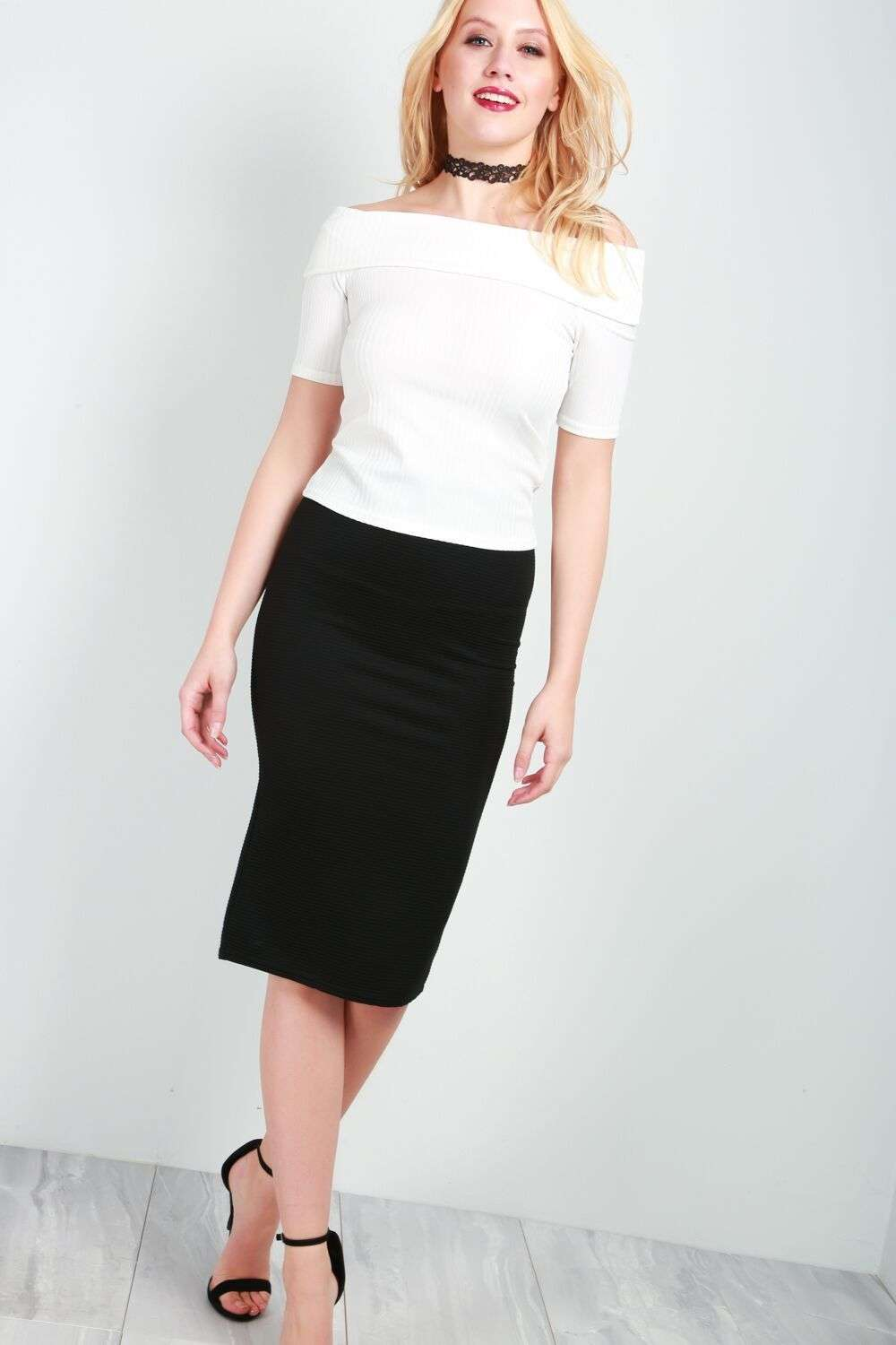 Alice High Waist Basic Black Pencil Skirt - bejealous-com