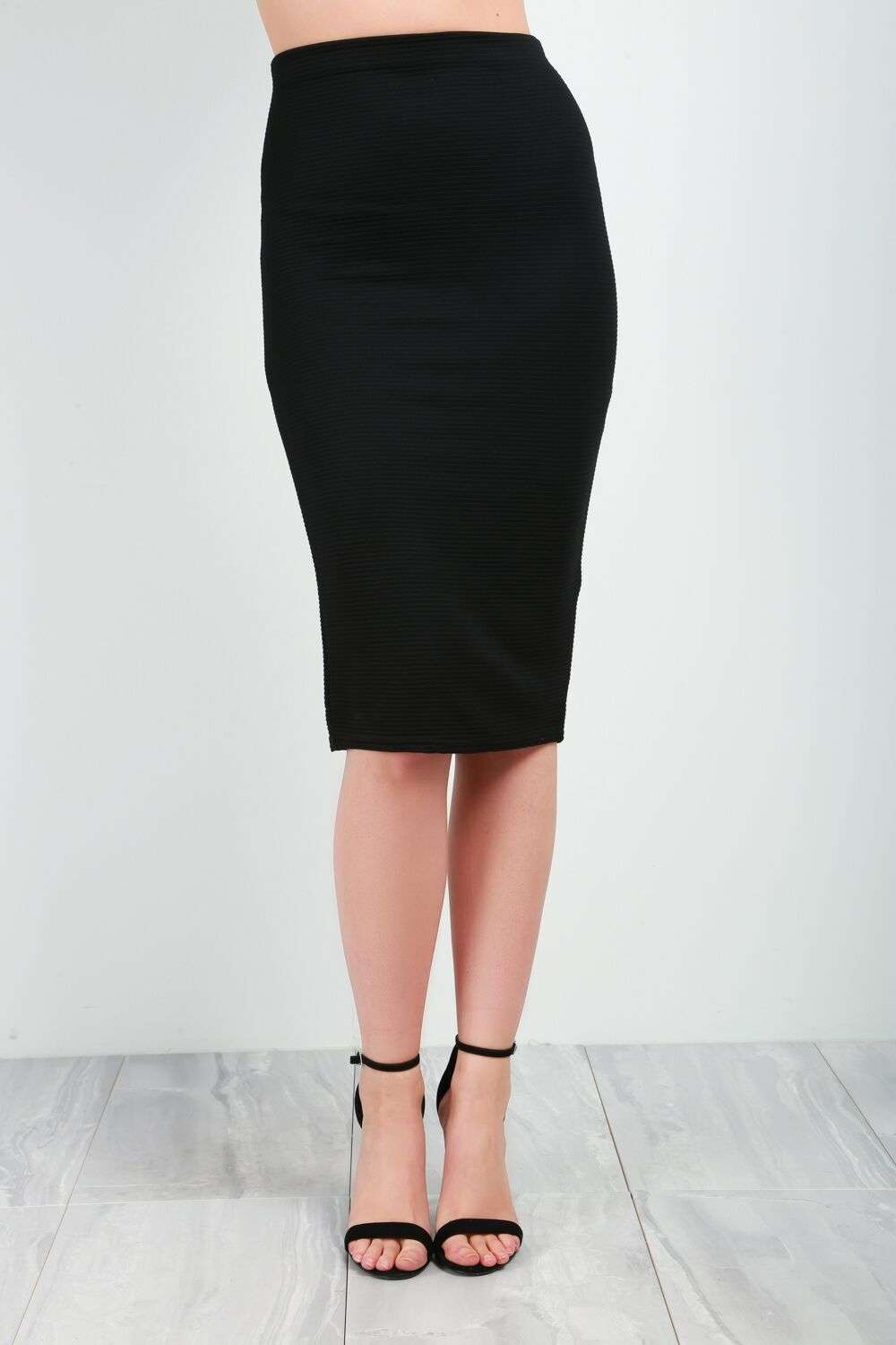 Alice High Waist Ribbed Midi Skirt - bejealous-com