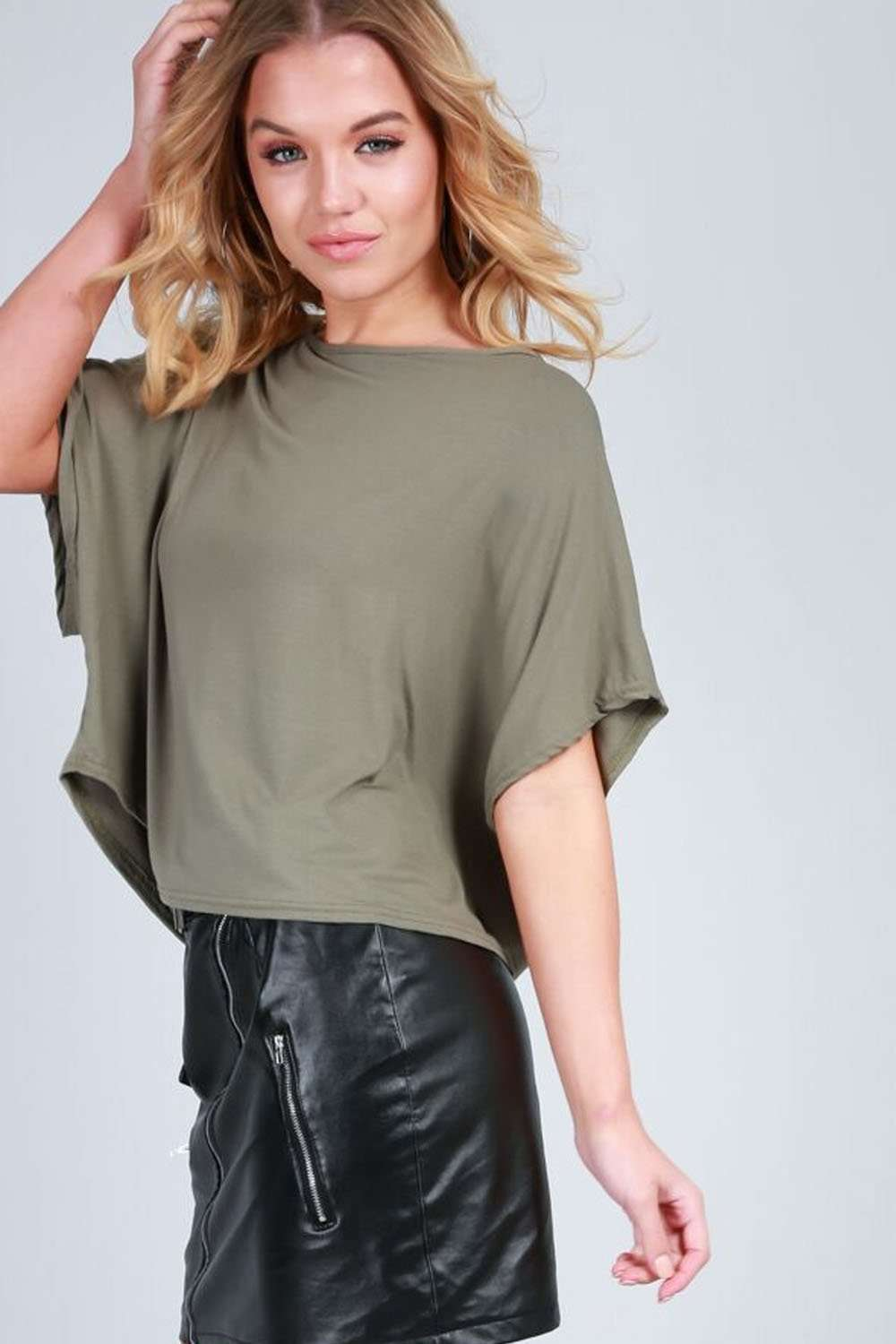 Alliah Baggy Cropped Plain Jersey Tshirt - bejealous-com