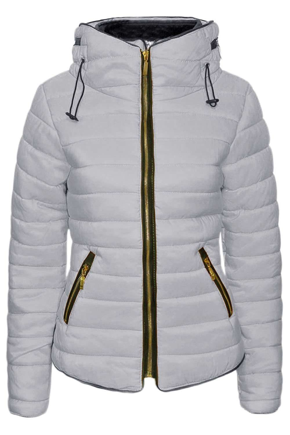Amanda Faux Fur High Collar Quilted Puffer Coat - bejealous-com