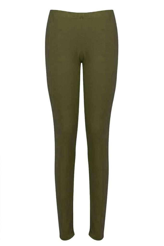 Bailie High Waist Basic Jersey Leggings - bejealous-com
