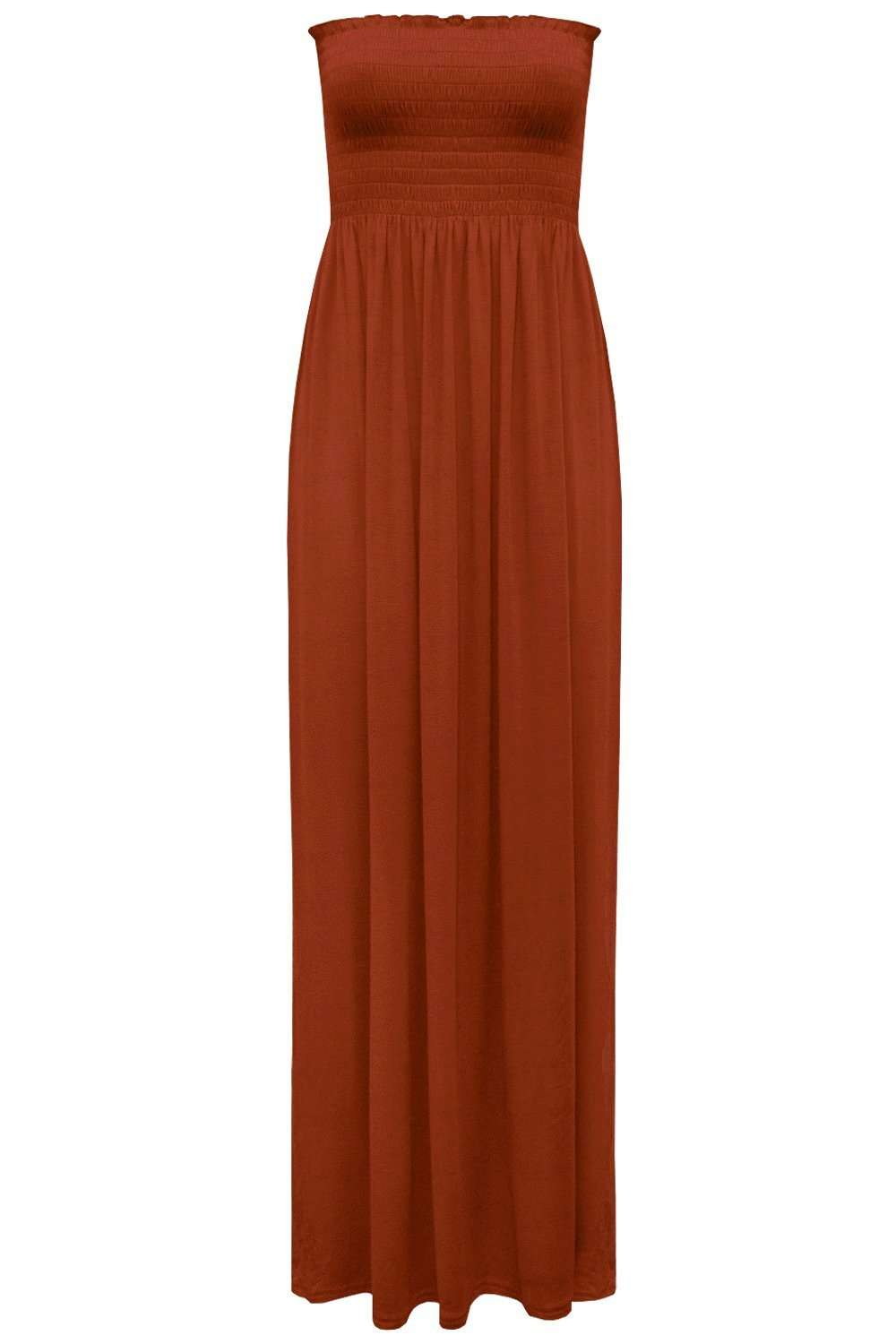 Black Strapless Sheering Bandeau Maxi Dress - bejealous-com