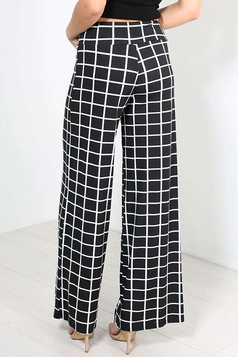 Breeze Monochrome Striped Wide Leg Pants - bejealous-com
