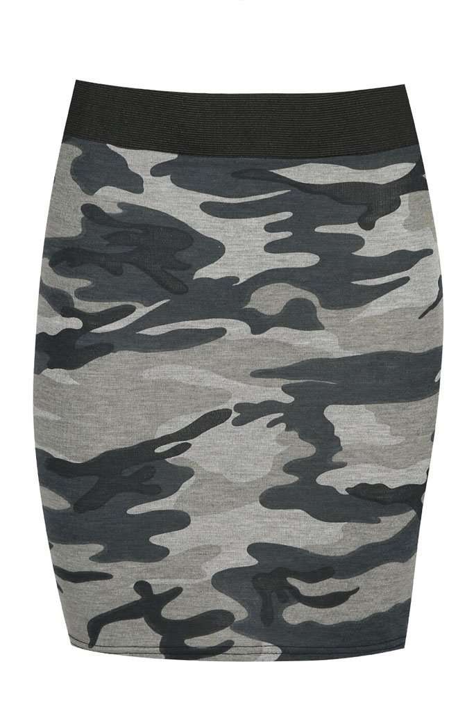 Cadie High Waist Camo Print Mini Skirt - bejealous-com