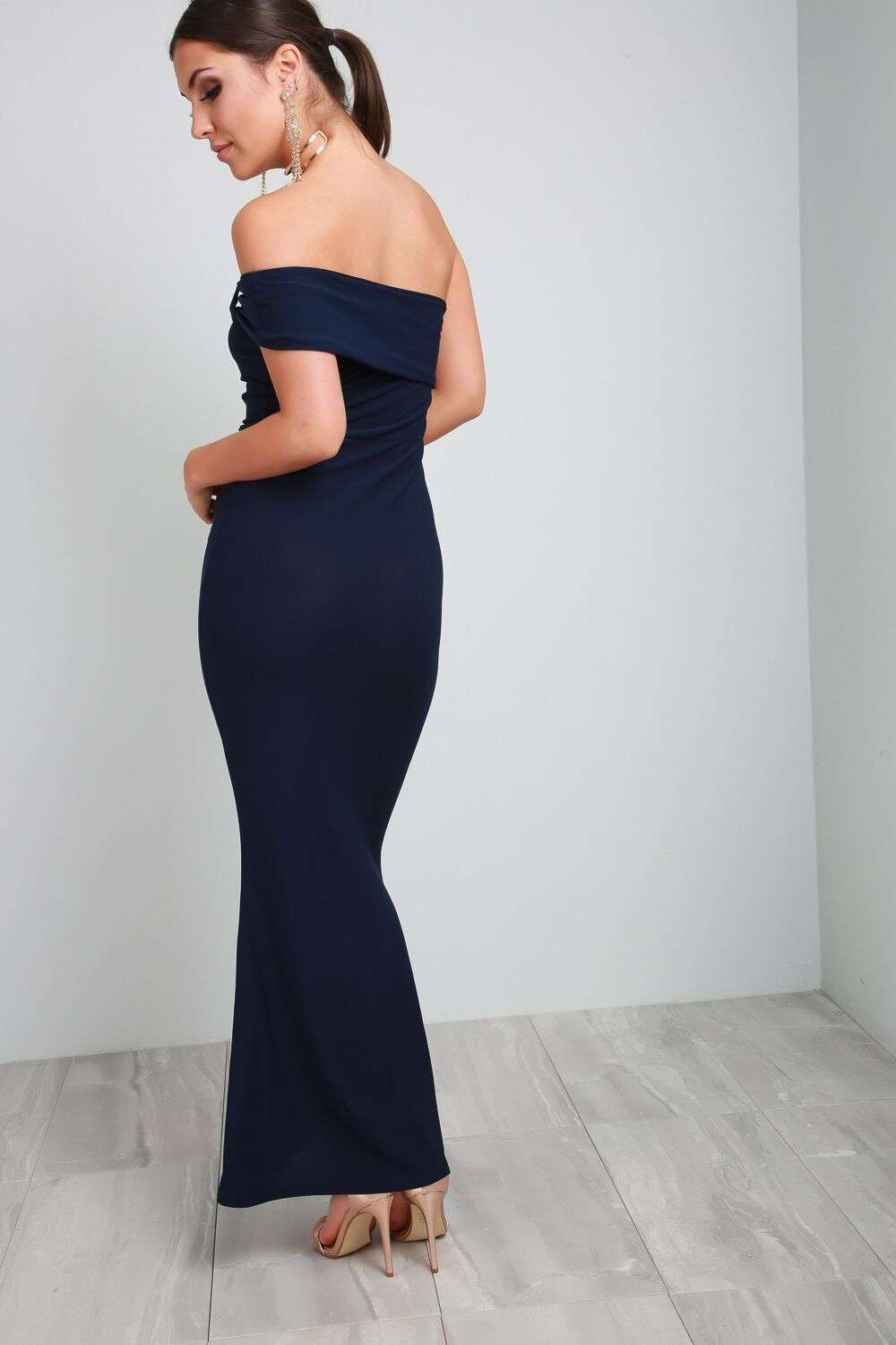Callie Bardot Bow One Shoulder Maxi Dress - bejealous-com
