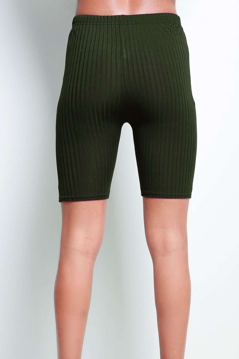 Callie High Waisted Ribbed Cycling Shorts - bejealous-com