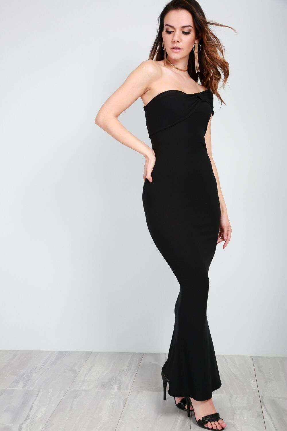 Callie Off Shoulder Fishtail Maxi Dress - bejealous-com