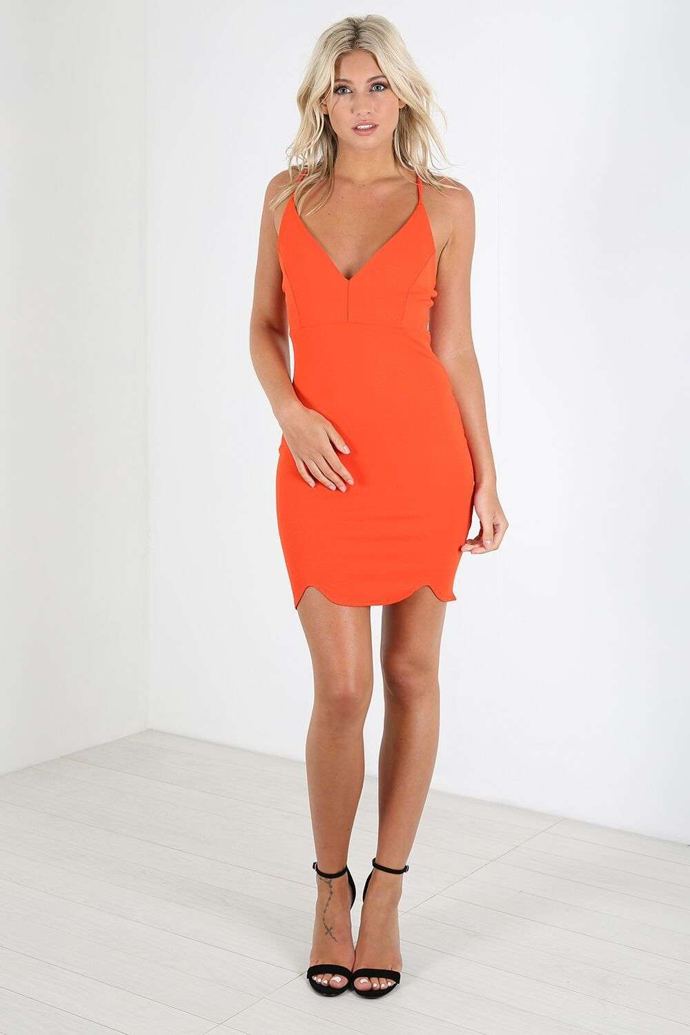 Camille Plunge Neck Strappy Mini Dress - bejealous-com