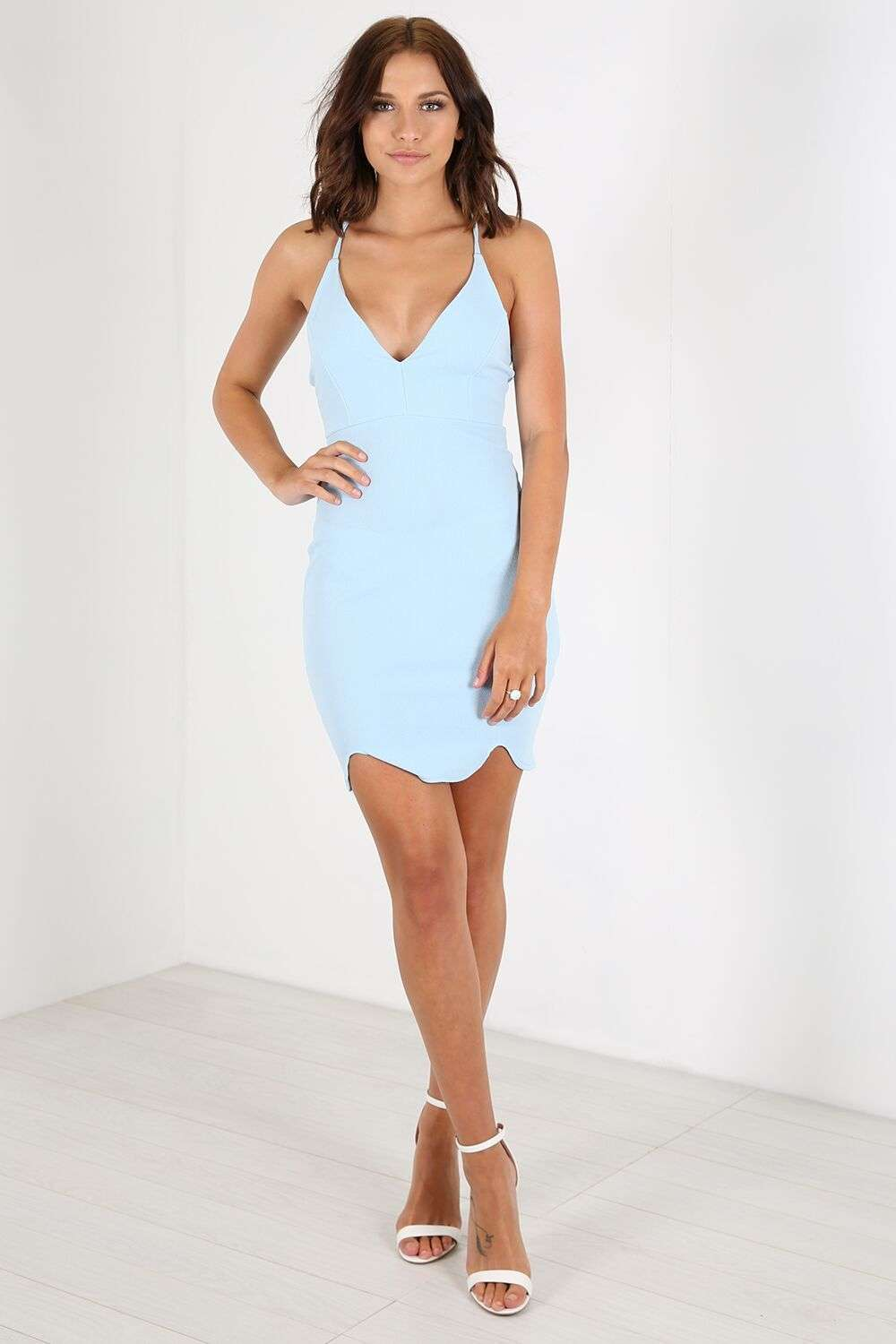 Camille Racer Back Strappy Bodycon Dress - bejealous-com