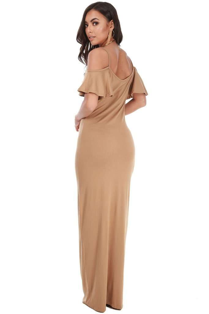 Camillia Off Shoulder Strappy Maxi Dress - bejealous-com
