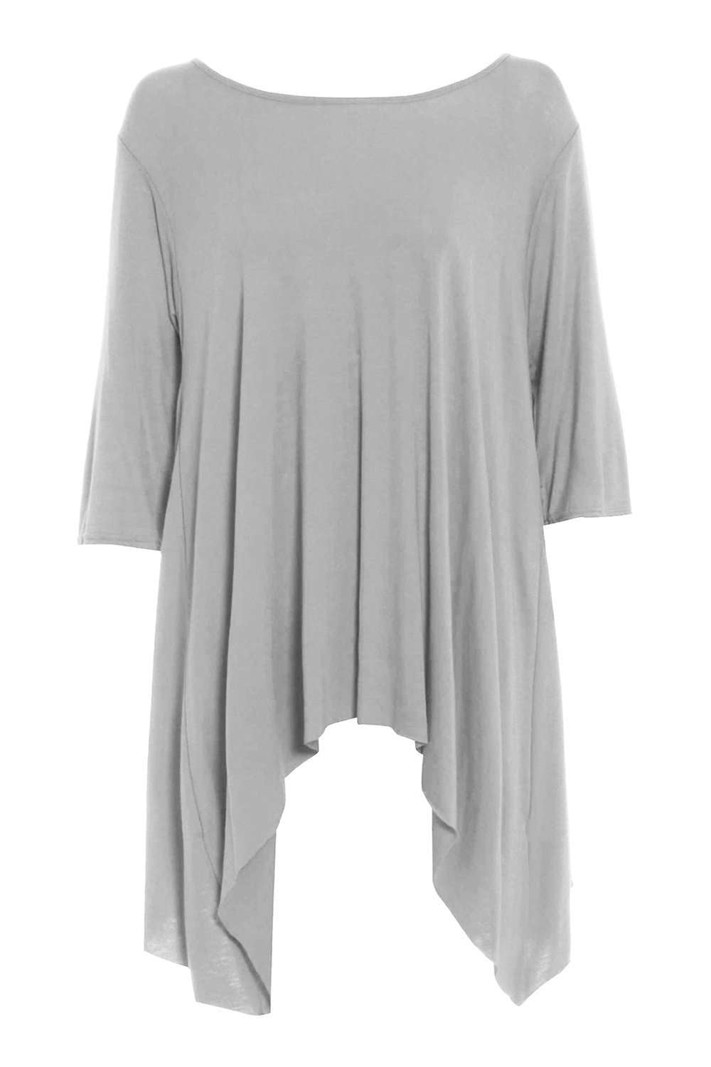 Carly Long Sleeve Dipped Hem Baggy Top - bejealous-com