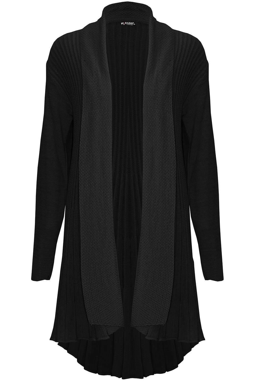 Carly Long Sleeve Pleated Knitted Cardigan - bejealous-com