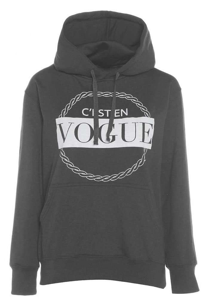Cayley Oversize Vogue Graphic Print Sweatshirt - bejealous-com