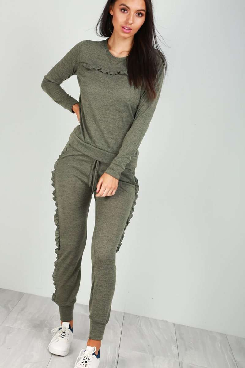 Clara Frilly Fine Knit Lounge Wear Set - bejealous-com