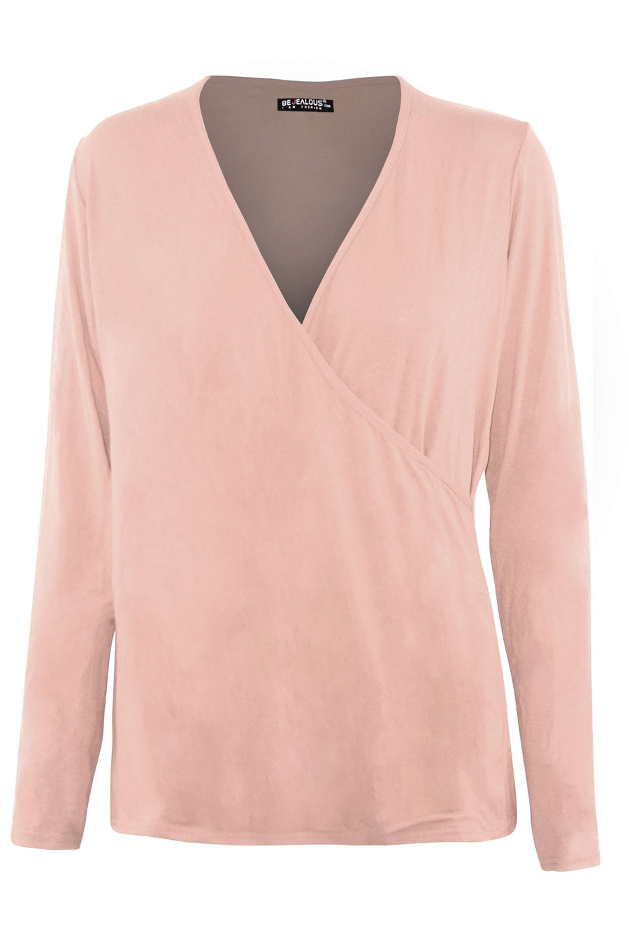 Dannie Long Sleeve Wrap Jersey Top - bejealous-com