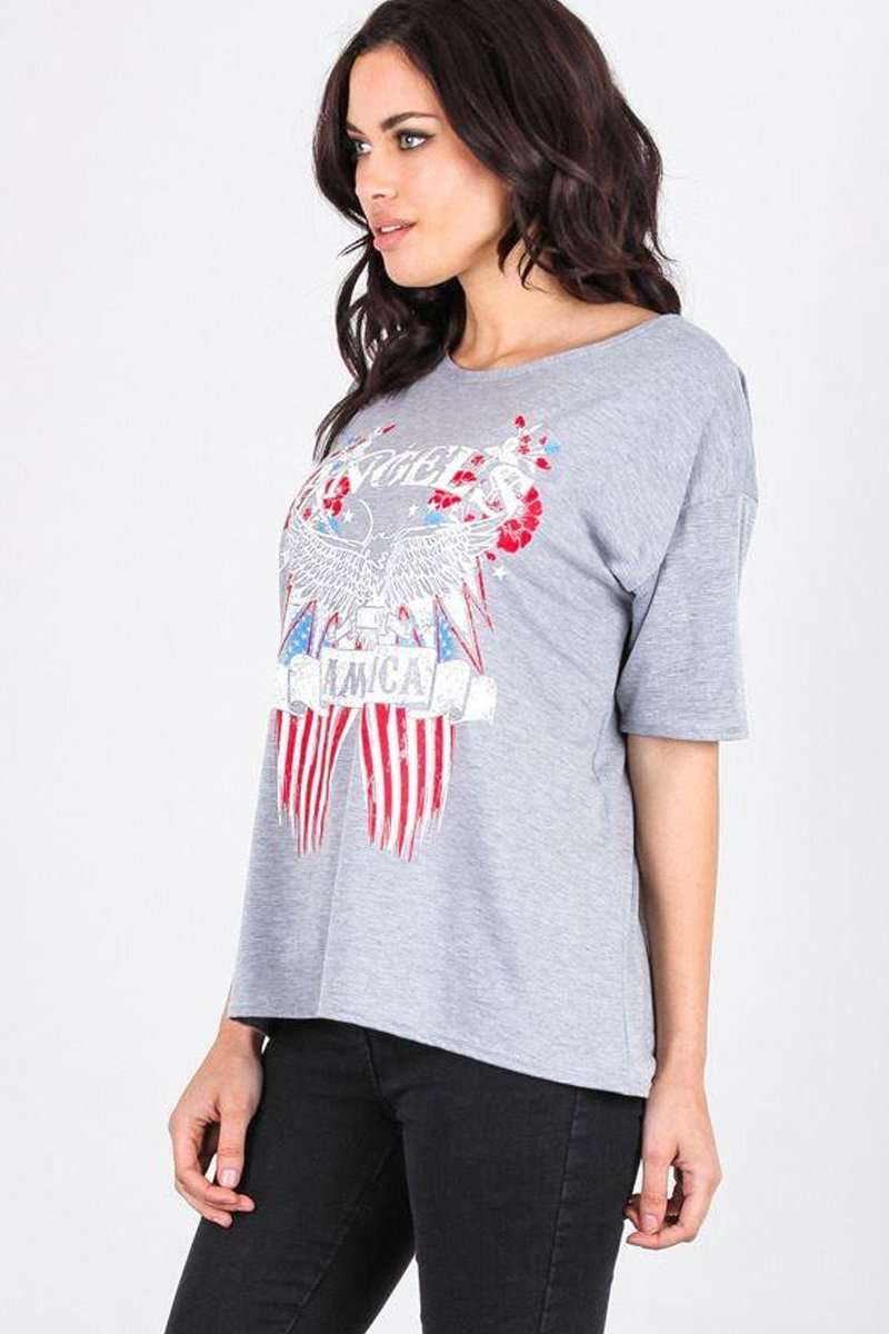Dawn American Angels Graphic Print TShirt - bejealous-com