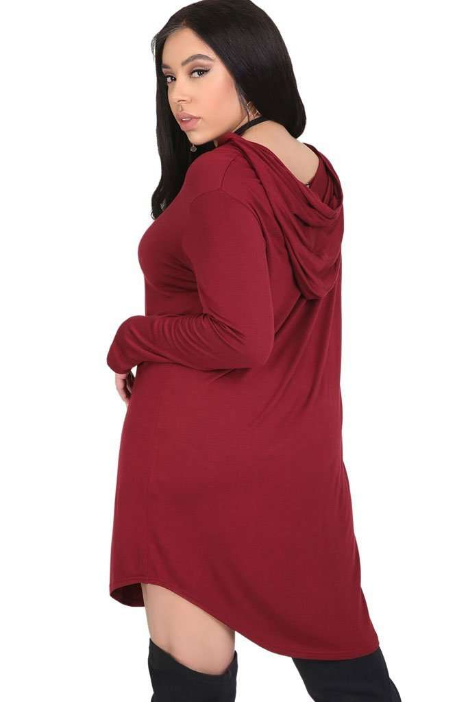 Curve Hem Basic Jersey Mini Dress - bejealous-com
