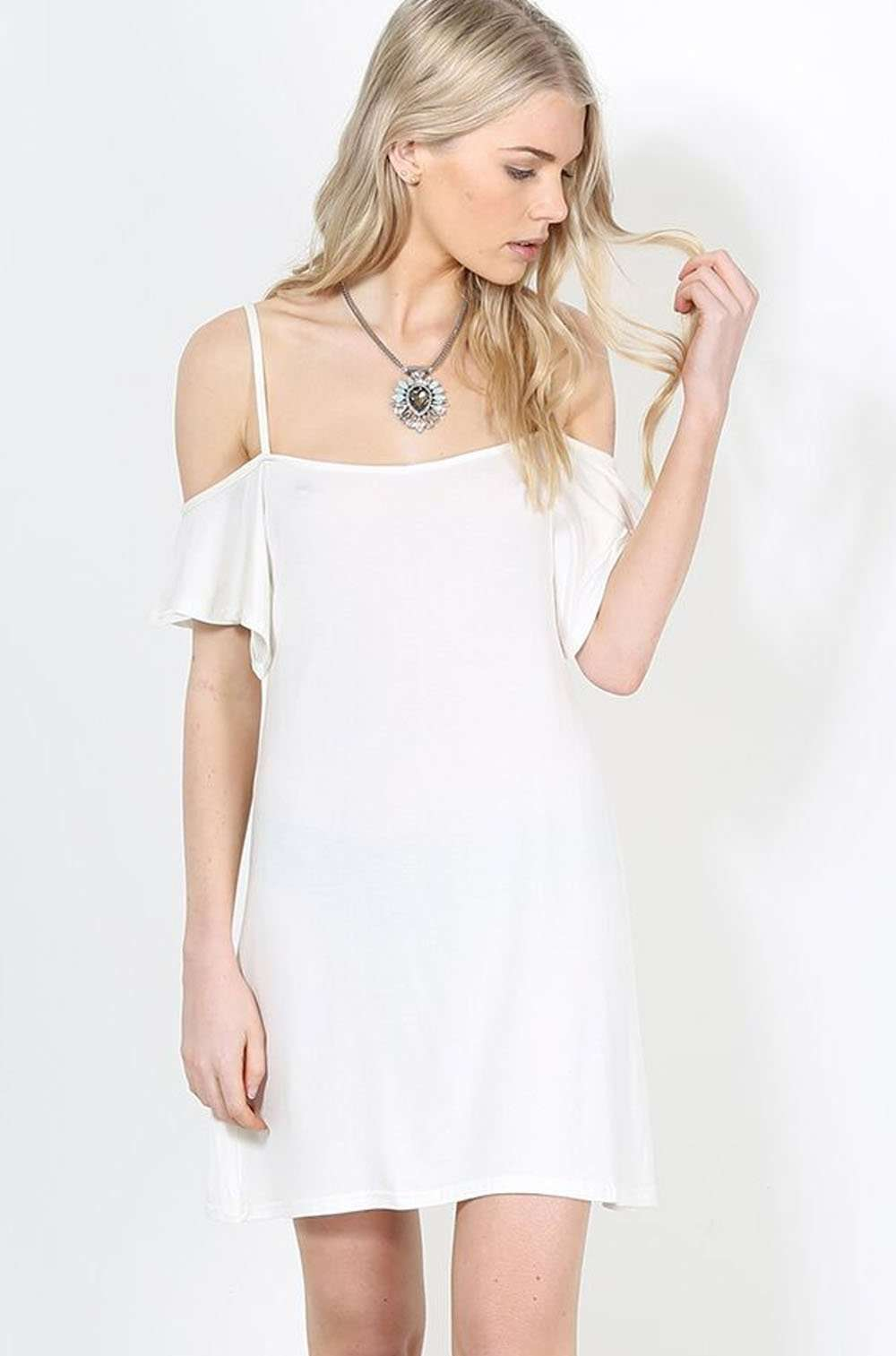 Debbie Strappy Cold Shoulder Mini Dress - bejealous-com