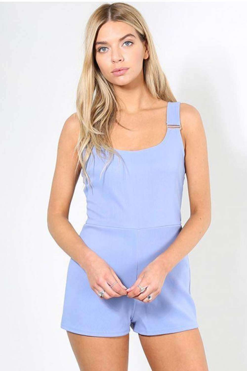 Delia Scoop Neck Buckle Playsuit - bejealous-com