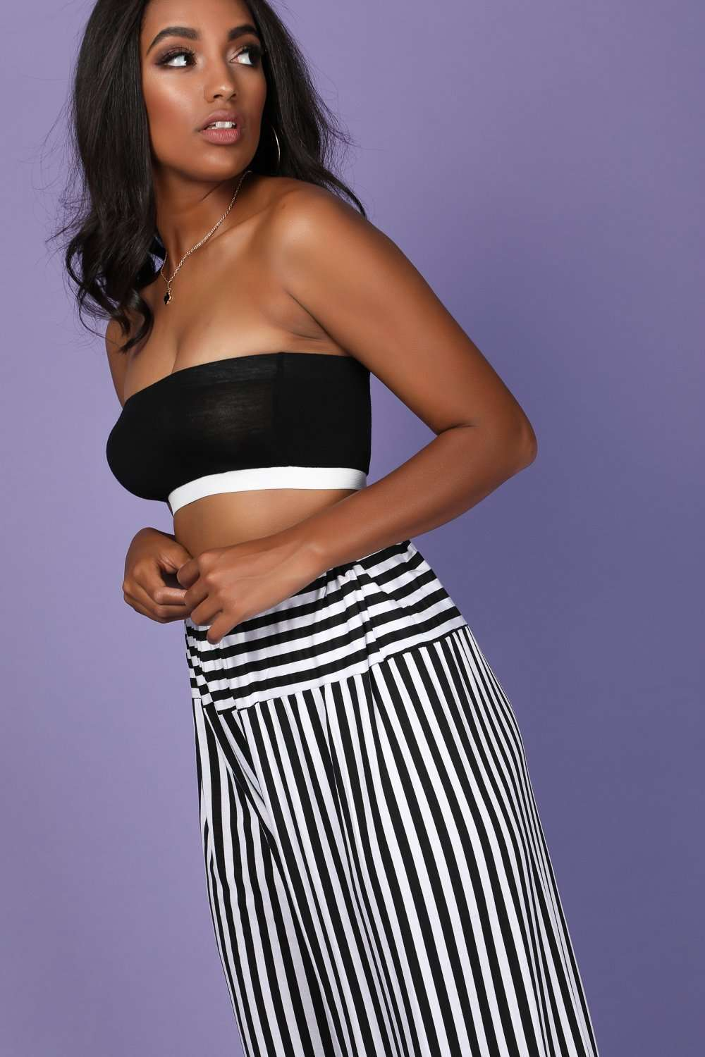 Ella Bandeau Basic Jersey Crop Top - bejealous-com