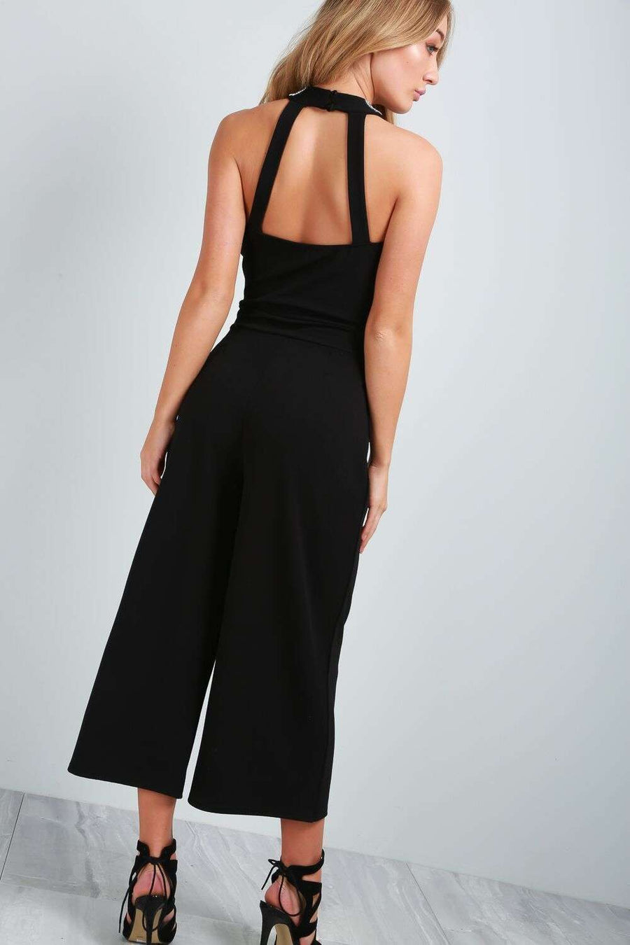 Ella Beaded Culotte Jumpsuit - bejealous-com