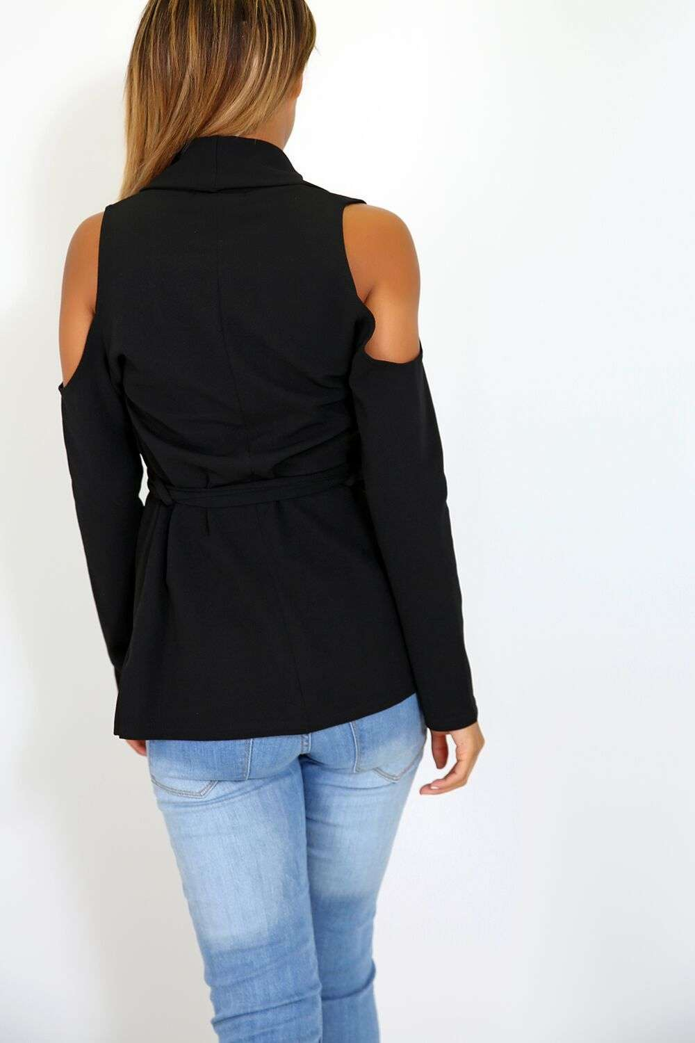 Ella Cold Shoulder Jacket - bejealous-com