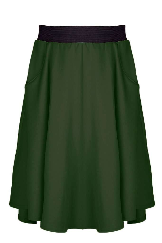 Ella High Waist Dipped Hem Midi Skirt - bejealous-com