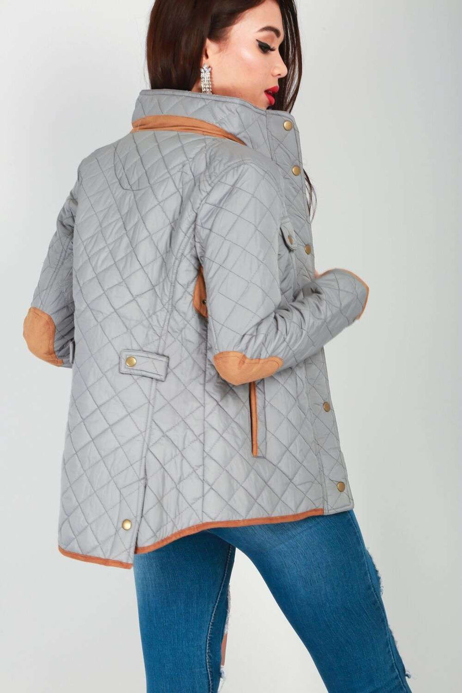 Ella Quilted Patched Jacket - bejealous-com