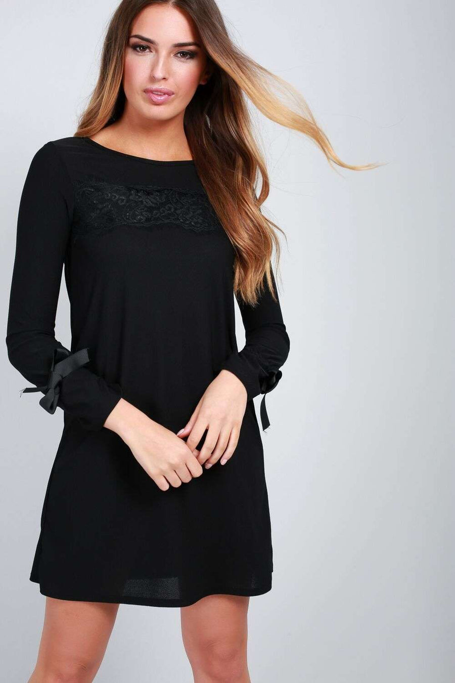 Ellija Long Sleeve Shift Dress - bejealous-com