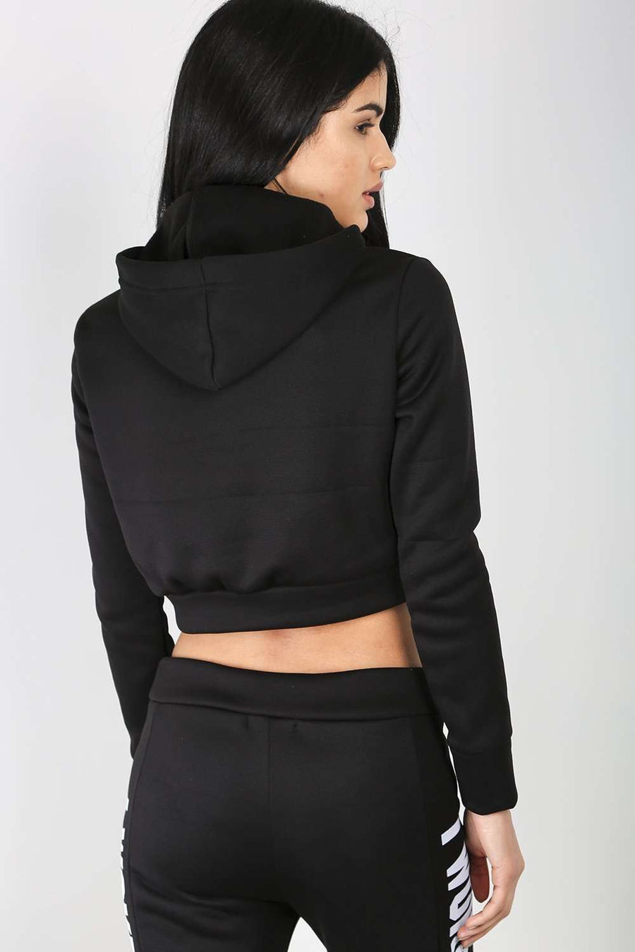 Emily Slogan Cropped Sweater - bejealous-com