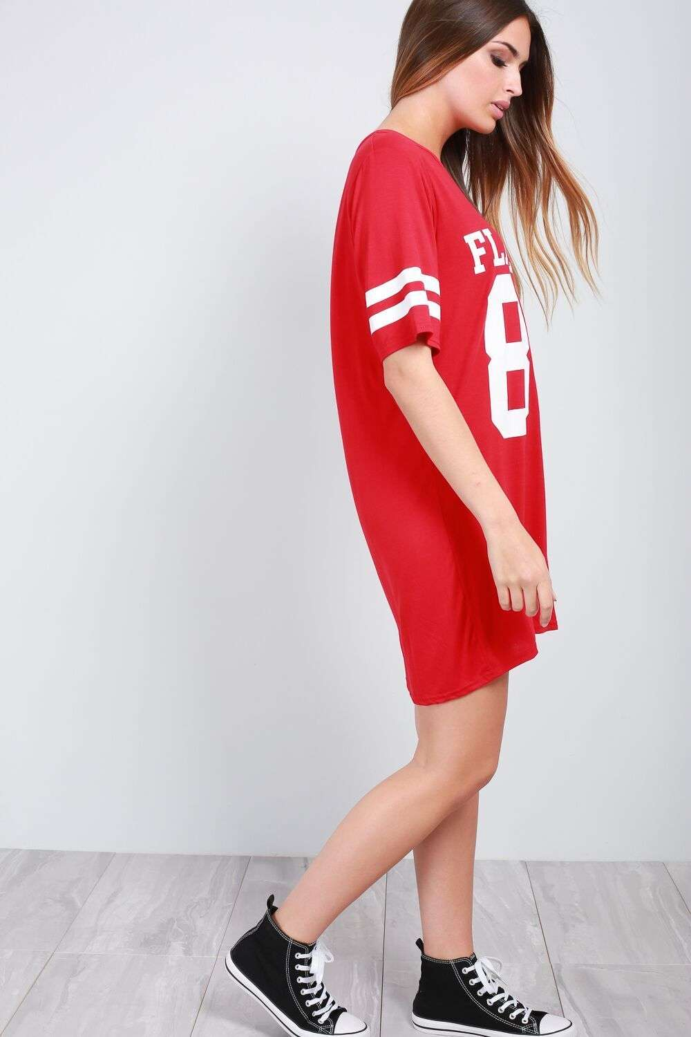 Emy Flawless Slogan Print TShirt Dress - bejealous-com