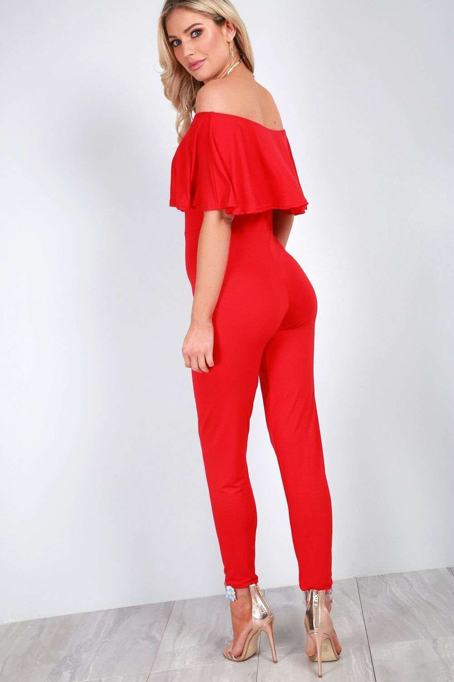 Faye Off Shoulder Slim Leg Jumpsuit - bejealous-com