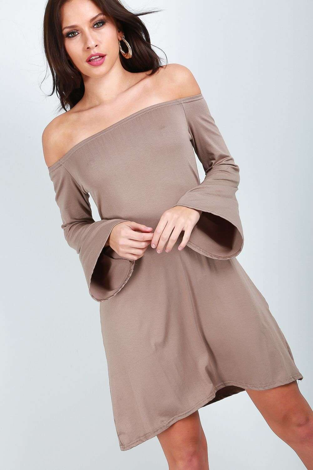 Fran Off Shoulder Dress - bejealous-com