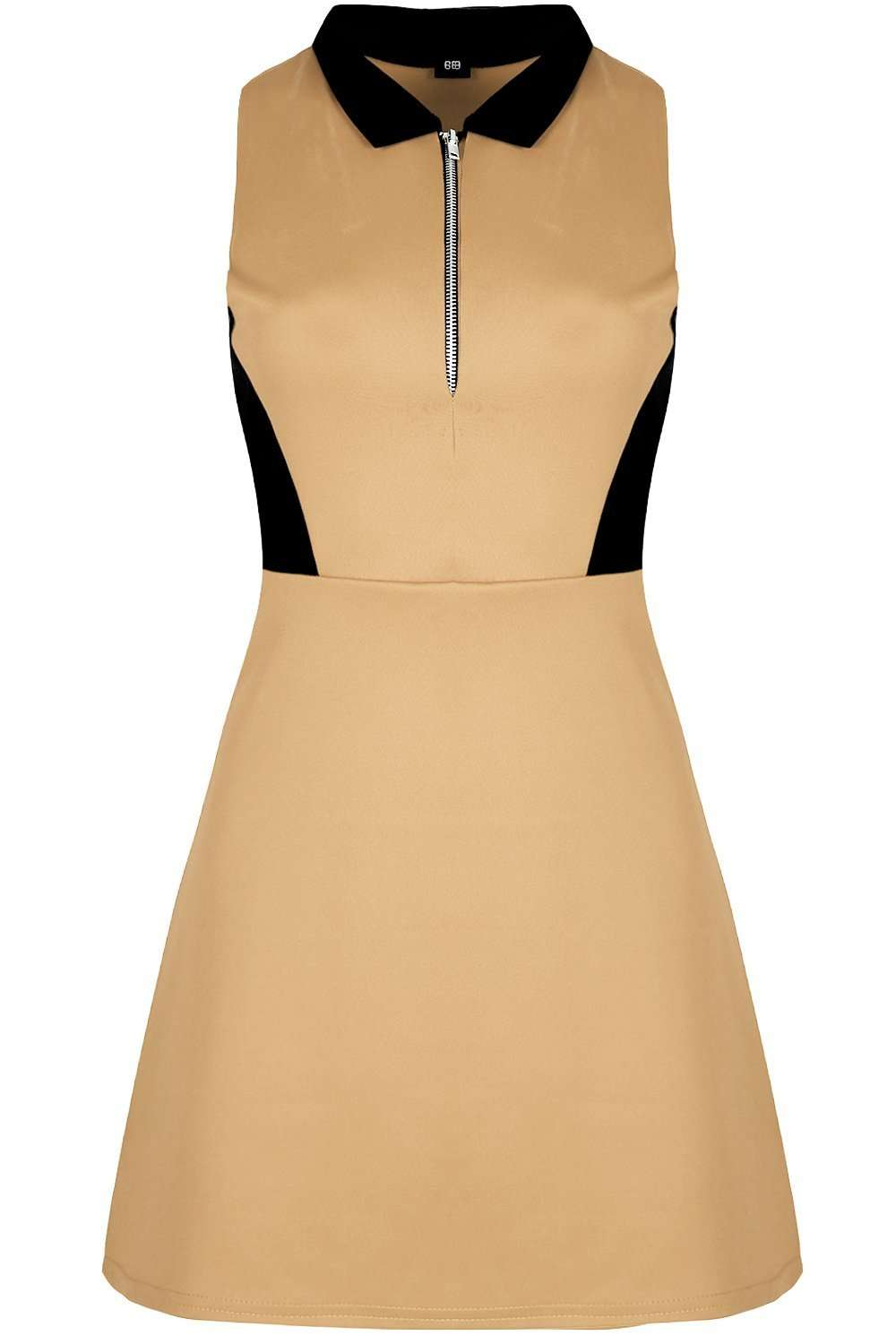 Frankie Sleeveless Paneled Shirt Dress - bejealous-com